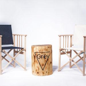 Dřevěná skládací křesílka (režisérská)